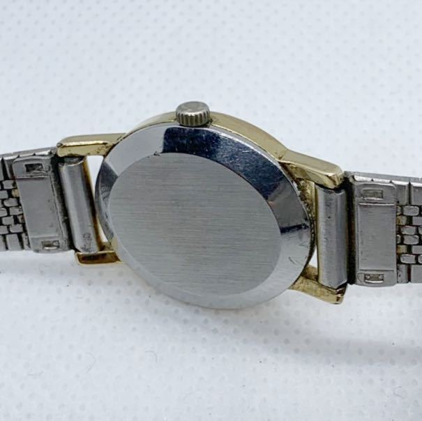 1円~ 最落なし OMEGA オメガ Genve ジュネーブ アンティーク 手巻き ゴールドダイヤル オーバル型 レディース 腕時計 ジャンク品_画像6