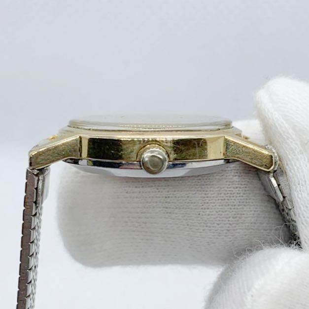 1円~ 最落なし OMEGA オメガ Genve ジュネーブ アンティーク 手巻き ゴールドダイヤル オーバル型 レディース 腕時計 ジャンク品_画像4