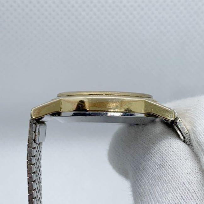 1円~ 最落なし OMEGA オメガ Genve ジュネーブ アンティーク 手巻き ゴールドダイヤル オーバル型 レディース 腕時計 ジャンク品_画像5