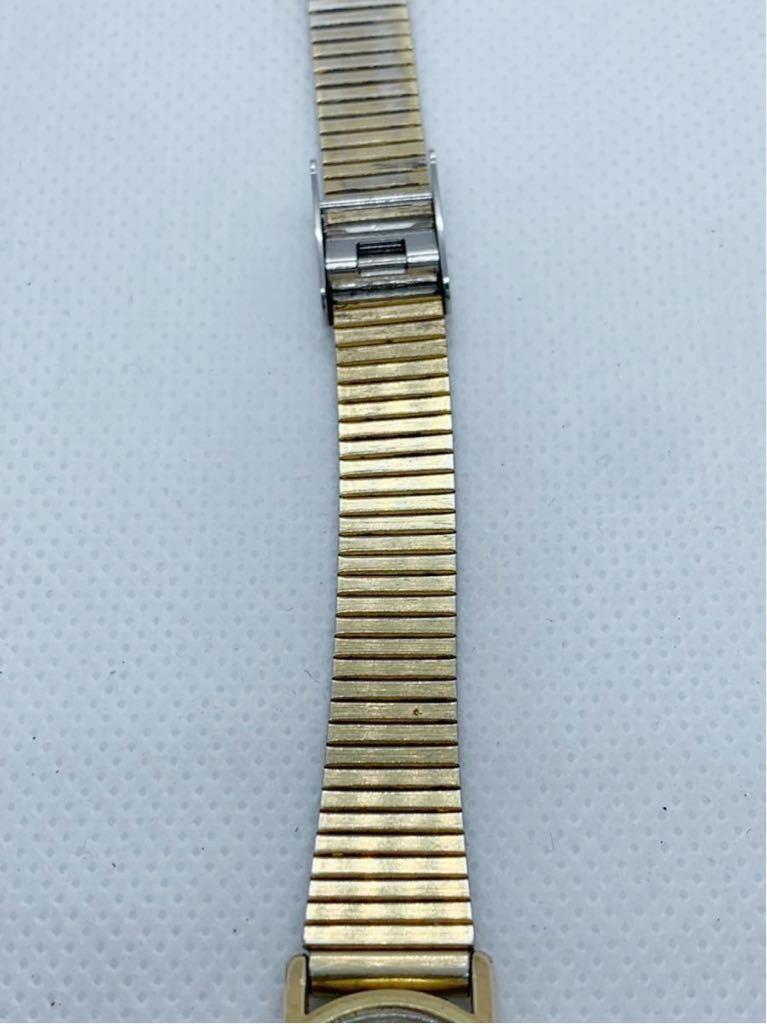 1円~ 最落なし OMEGA オメガ Genve ジュネーブ アンティーク 手巻き ゴールドダイヤル オーバル型 レディース 腕時計 ジャンク品_画像8