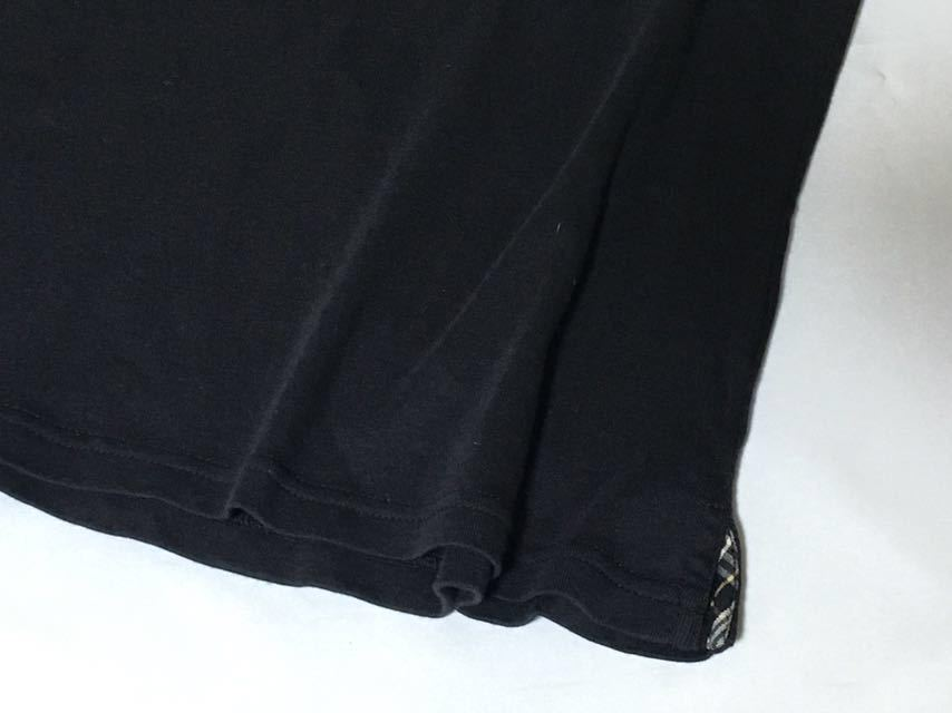 バーバリーブルーレーベル お袖のチェックの結び目が可愛いプルオーバー 38 送料185円♪_画像8