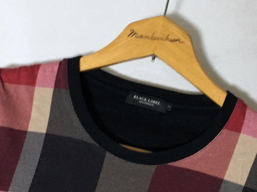 ブラックレーベルクレストブリッジ レディースサイズのチェックのカットソー 2 レディースMサイズ相当 送料185円♪_画像3