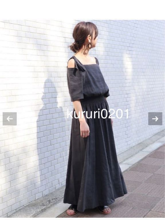 NOBLE☆美品ワンピースBLK_画像3