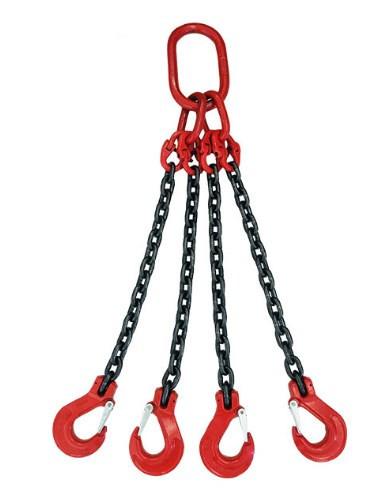 新品未使用スリング4本フック荷重5トンの合金鋼鍛造強力バックルクランプ長さ約150cm_画像4