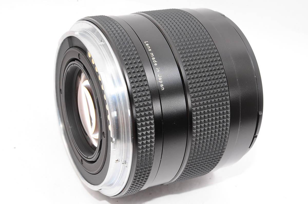 【極上品】 コンタックス カールツァイス プラナー 80mm F2 T* CONTAX Carl Zeiss Planar 645用 レンズ+メタルフード(GB-72)付 [8767814]_画像4