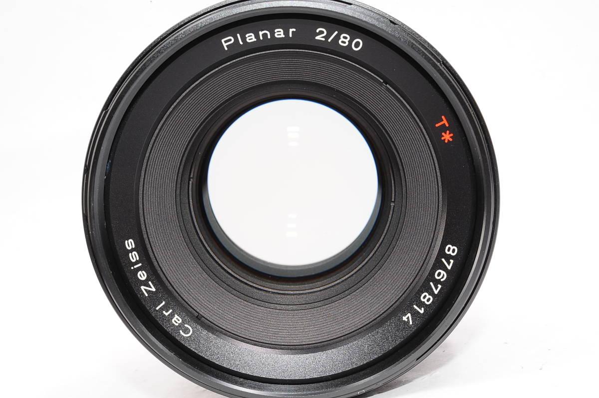【極上品】 コンタックス カールツァイス プラナー 80mm F2 T* CONTAX Carl Zeiss Planar 645用 レンズ+メタルフード(GB-72)付 [8767814]_画像5