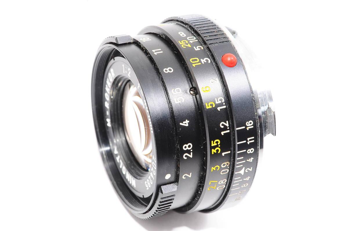 【極上品】 ミノルタ M ロッコール MINOLTA M-ROKKOR 40mm F2 マニュアルフォーカス / MF 一眼レンズ [2024285]_画像2