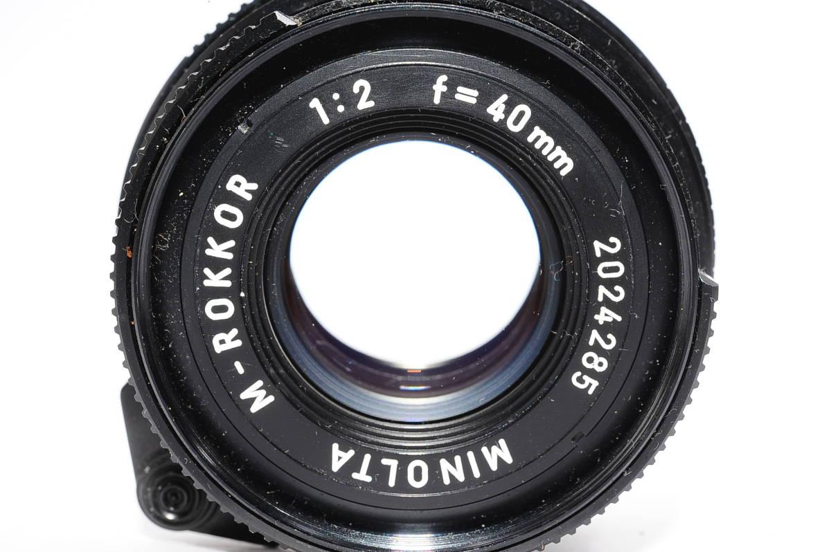 【極上品】 ミノルタ M ロッコール MINOLTA M-ROKKOR 40mm F2 マニュアルフォーカス / MF 一眼レンズ [2024285]_画像5