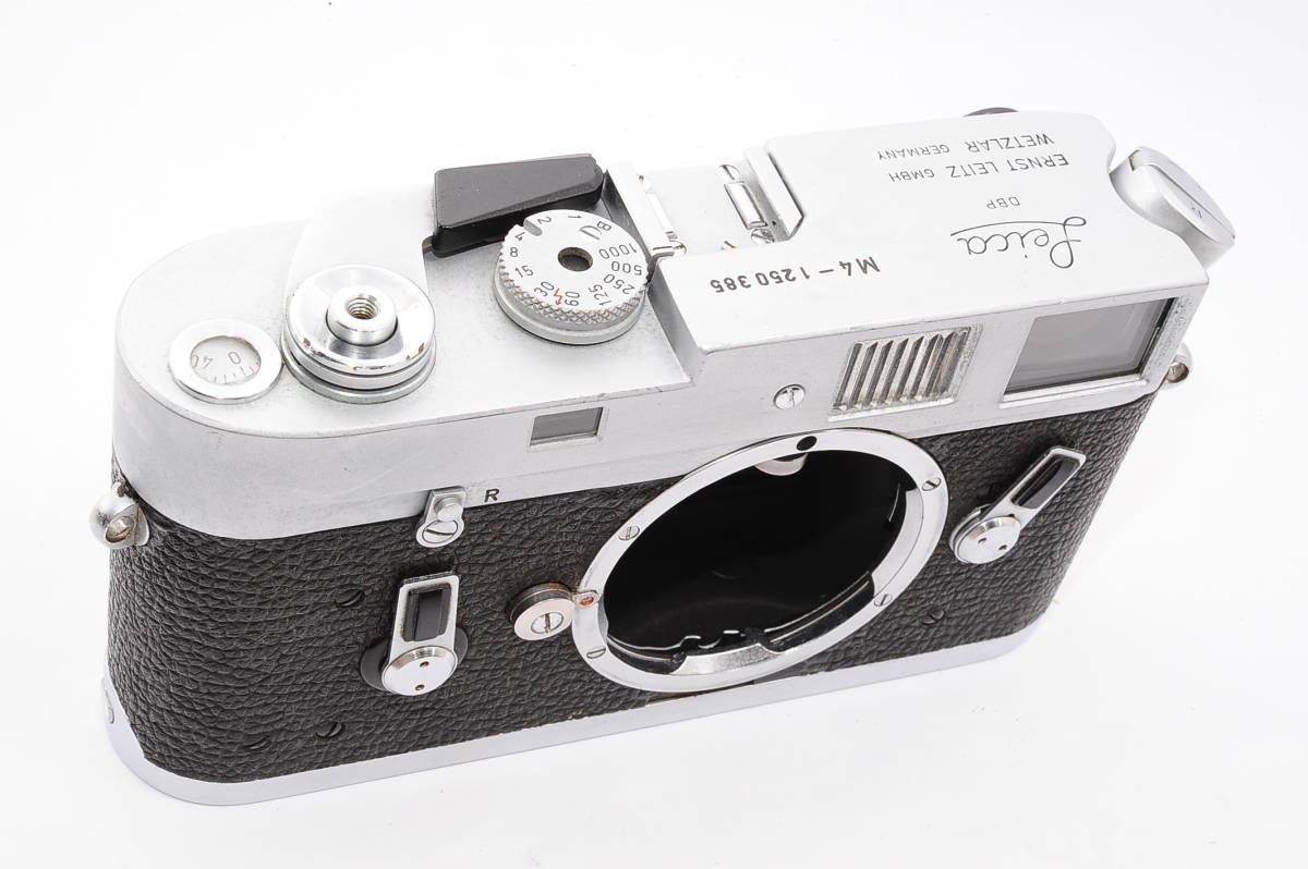 【美品】 ライカ Leica M4 ボディ - シルバー LEITZ DBP WETZLAR GBMH レンジファインダー カメラ [1250385]_画像5