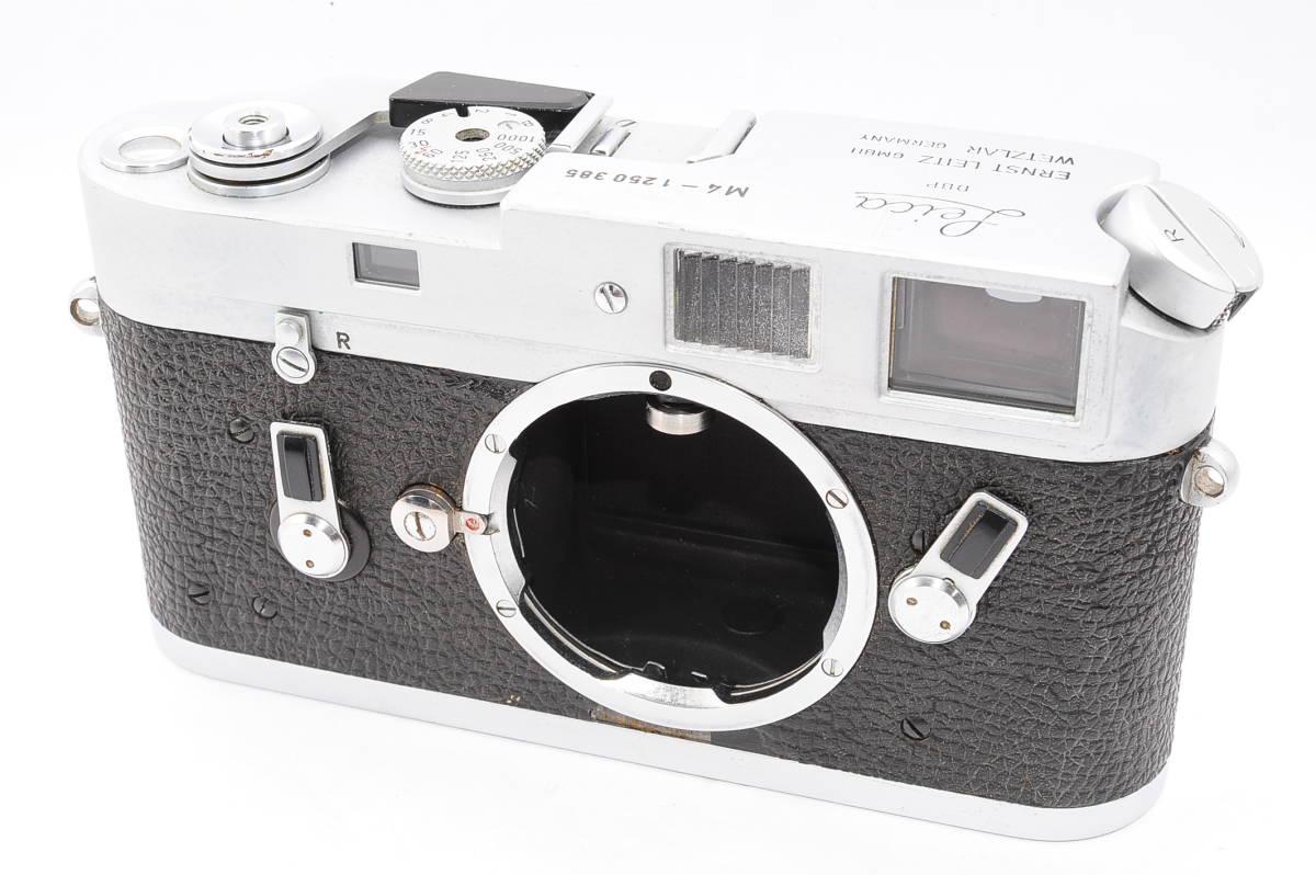 【美品】 ライカ Leica M4 ボディ - シルバー LEITZ DBP WETZLAR GBMH レンジファインダー カメラ [1250385]