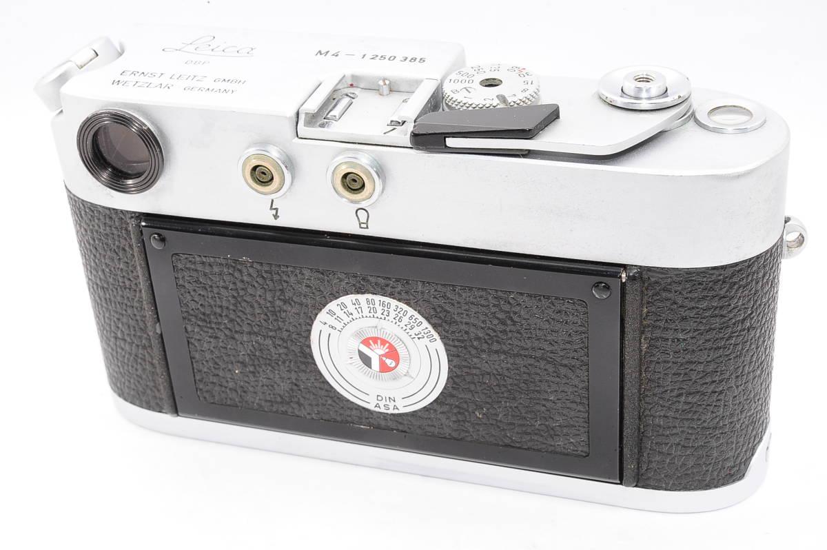 【美品】 ライカ Leica M4 ボディ - シルバー LEITZ DBP WETZLAR GBMH レンジファインダー カメラ [1250385]_画像2