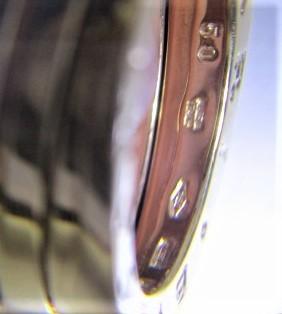 26PFN 【美品】 【 18金 】 BVLGARI ブルガリ リング ゴールド 18K / 750 刻印有り 10号 アクセサリー メンズ レディース 指輪 ブランド品_画像3