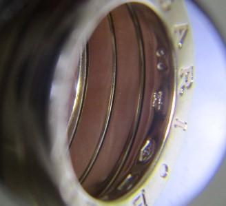 26PFN 【美品】 【 18金 】 BVLGARI ブルガリ リング ゴールド 18K / 750 刻印有り 10号 アクセサリー メンズ レディース 指輪 ブランド品_画像2