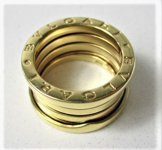 26PFN 【美品】 【 18金 】 BVLGARI ブルガリ リング ゴールド 18K / 750 刻印有り 10号 アクセサリー メンズ レディース 指輪 ブランド品