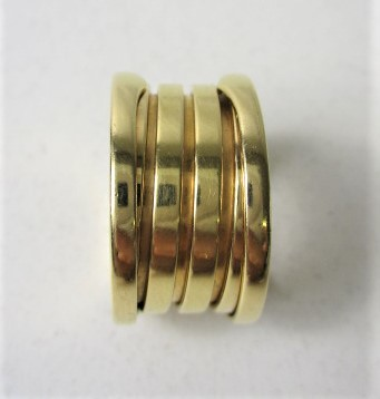 26PFN 【美品】 【 18金 】 BVLGARI ブルガリ リング ゴールド 18K / 750 刻印有り 10号 アクセサリー メンズ レディース 指輪 ブランド品_画像7