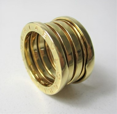 26PFN 【美品】 【 18金 】 BVLGARI ブルガリ リング ゴールド 18K / 750 刻印有り 10号 アクセサリー メンズ レディース 指輪 ブランド品_画像6