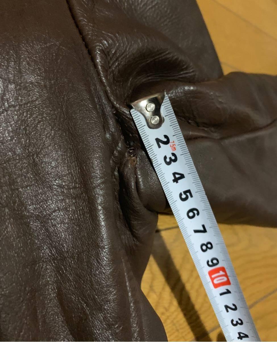 Lesco Leathers 70年代USライダース 38程度 茶 ブラウン Schott ルイスレザー ショット Buco Vanson ベルト有希少_画像10