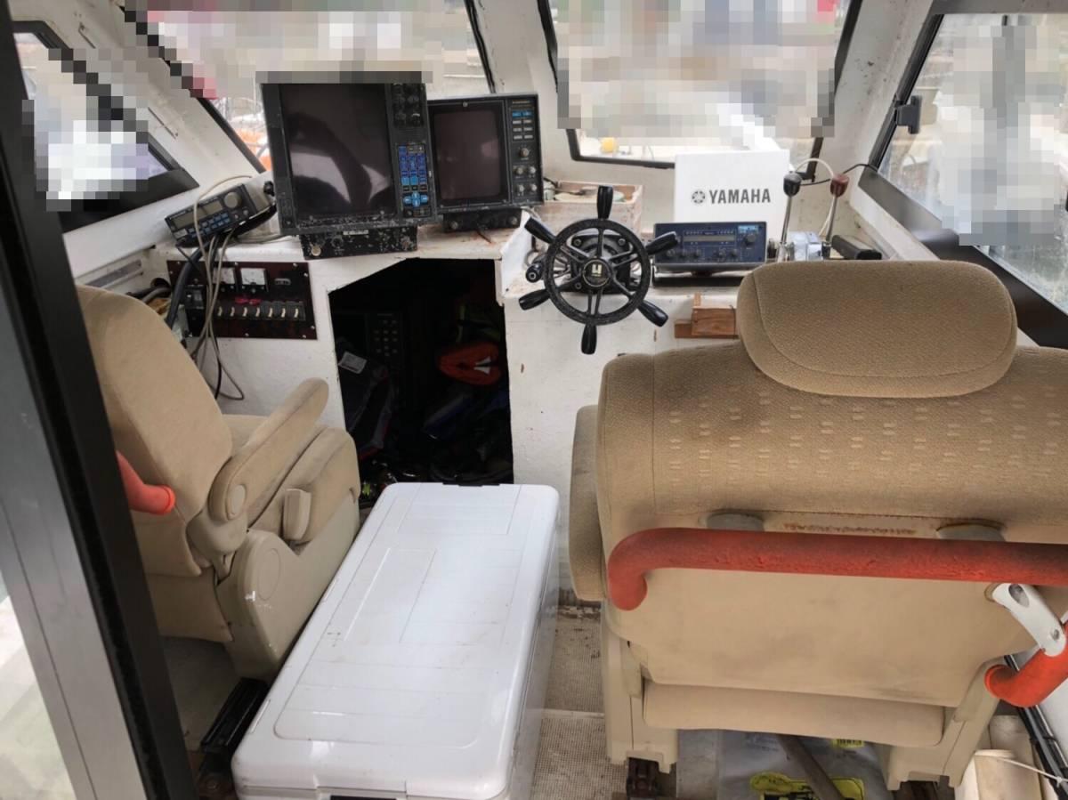 希少船 SSボート 52ft ヤンマーエンジンO/H後 ペラ新品交換後 100時間程度 新品GPS 新品ロッドホルダー ソナー オーパイ 早い者勝ち _画像6