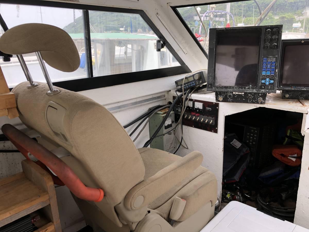 希少船 SSボート 52ft ヤンマーエンジンO/H後 ペラ新品交換後 100時間程度 新品GPS 新品ロッドホルダー ソナー オーパイ 早い者勝ち _画像8