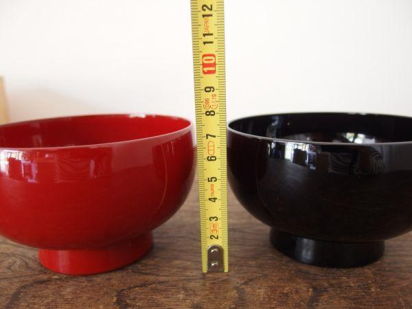 fC0473 美品 夫婦碗 漆器 うるし 径11.5cm 天然木 共箱 汁 飯 和食器 伝統工芸_画像6