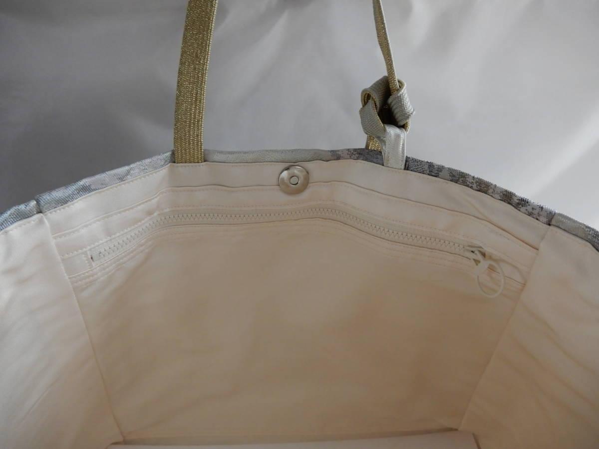 袋帯(奥嵯峨 銀糸 )リメイク・ハンドメイドトートバッグ・お出かけに如何でしょうか☆_画像7