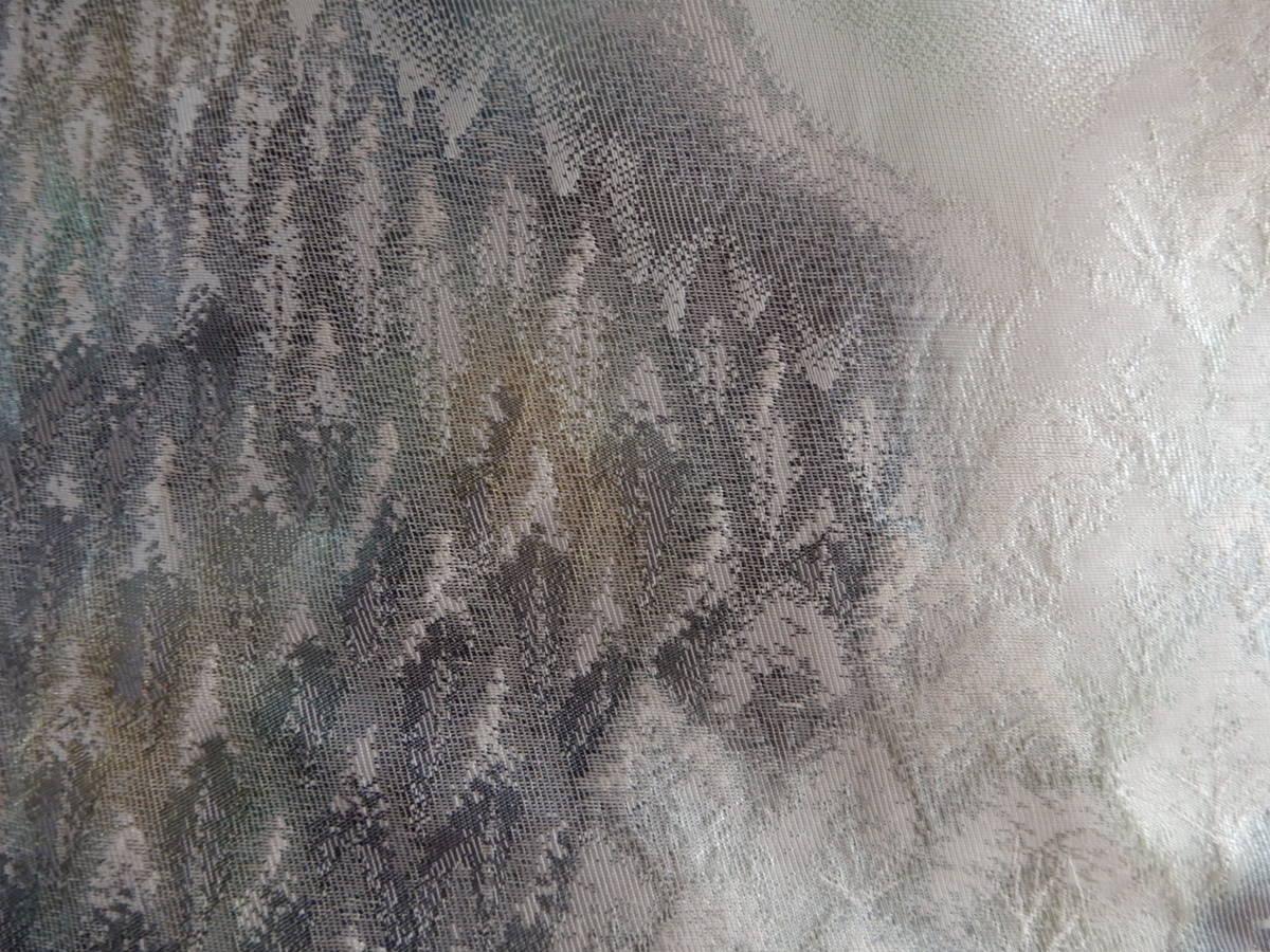 袋帯(奥嵯峨 銀糸 )リメイク・ハンドメイドトートバッグ・お出かけに如何でしょうか☆_画像9