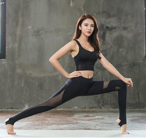 レディーズ 吸汗速乾 ジョギング トレーニング フィットネスパンツヨガウェア_画像3