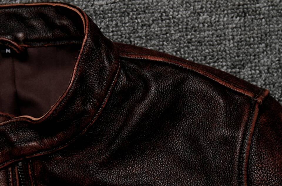 高級感満載*高品質★上層牛革100% マンズ  レザージャケット メンズレザーウェア レザージャケット サイズ選択可_画像6
