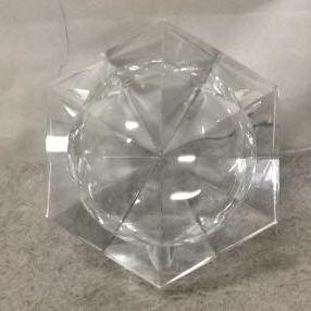 g_t v016 ガラス工芸 HOYAクリスタル 「ガラスの灰皿 」 箱付 未使用品_画像5