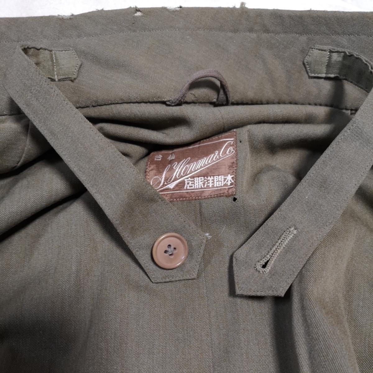 日本軍 将校マント 少尉 外套 襟章付き 戦前 洋品店仕立 軍服_画像7