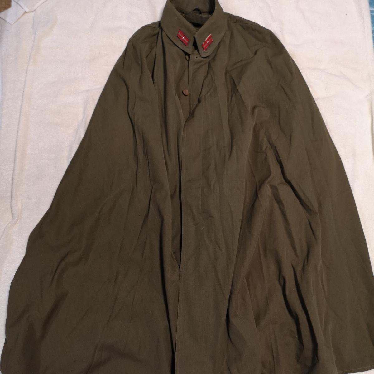 日本軍 将校マント 少尉 外套 襟章付き 戦前 洋品店仕立 軍服