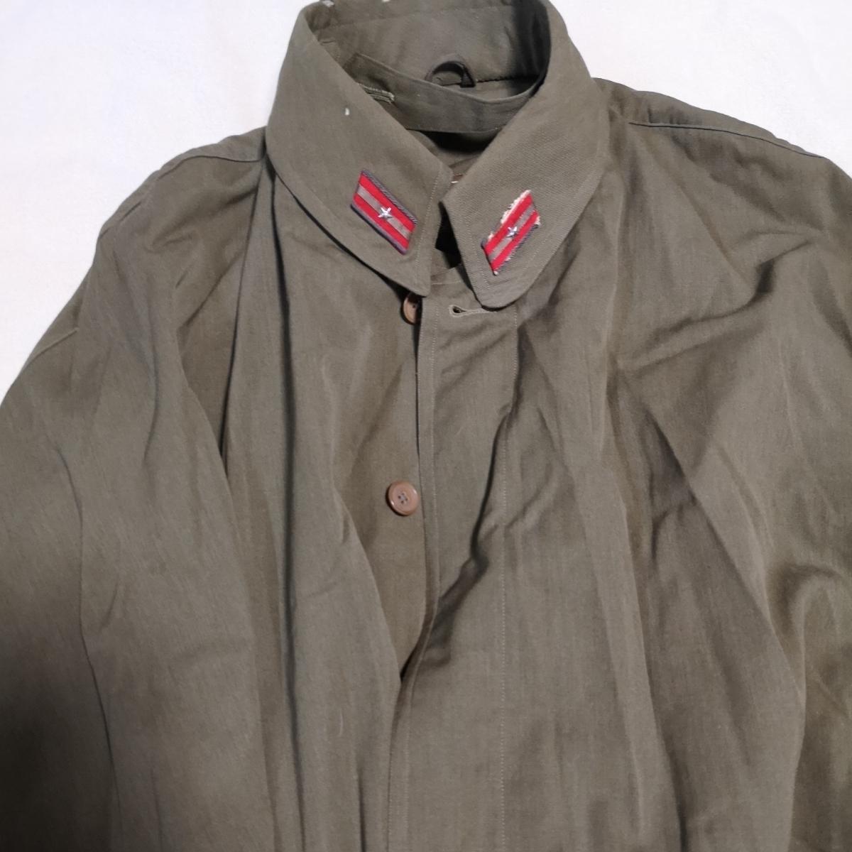 日本軍 将校マント 少尉 外套 襟章付き 戦前 洋品店仕立 軍服_画像2