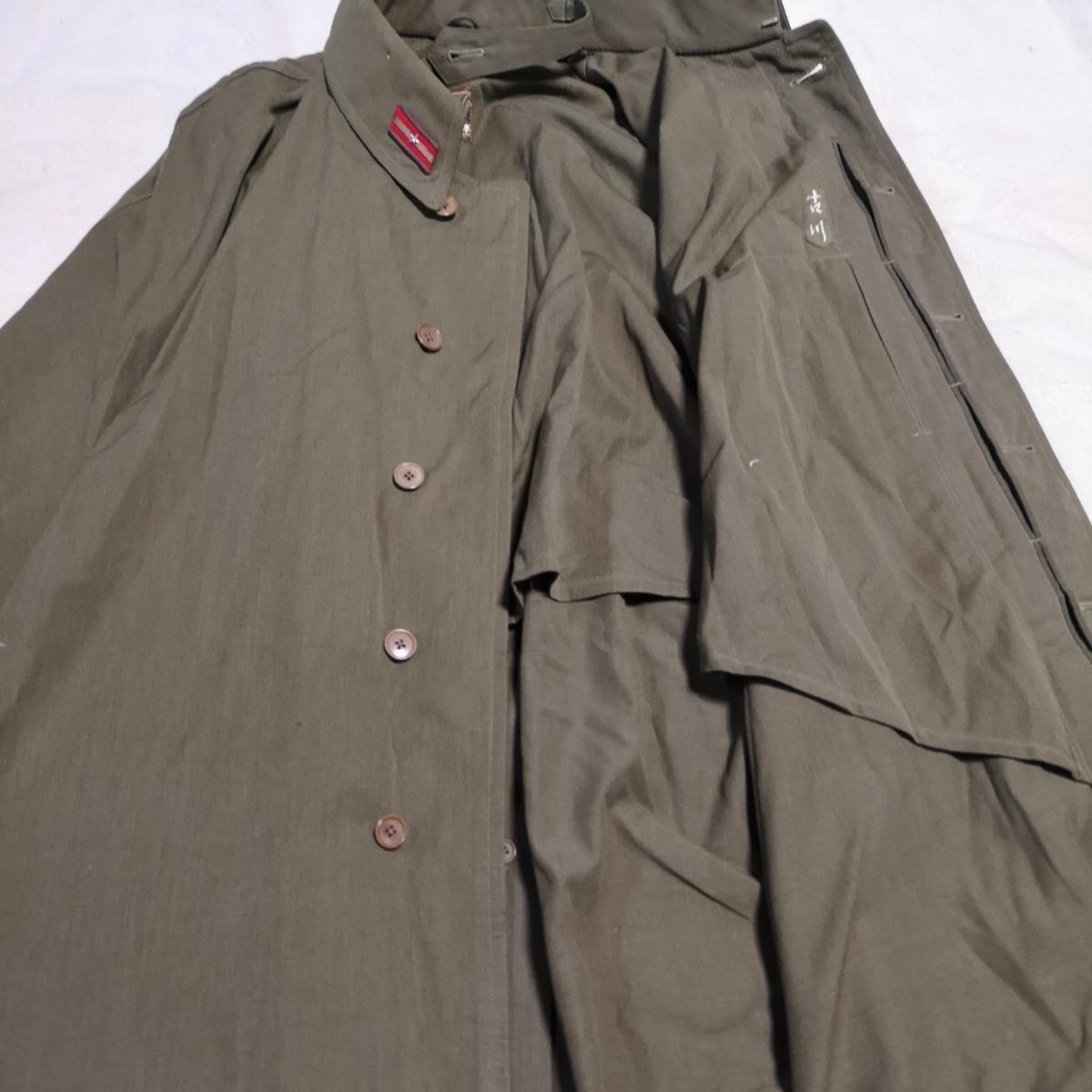 日本軍 将校マント 少尉 外套 襟章付き 戦前 洋品店仕立 軍服_画像5