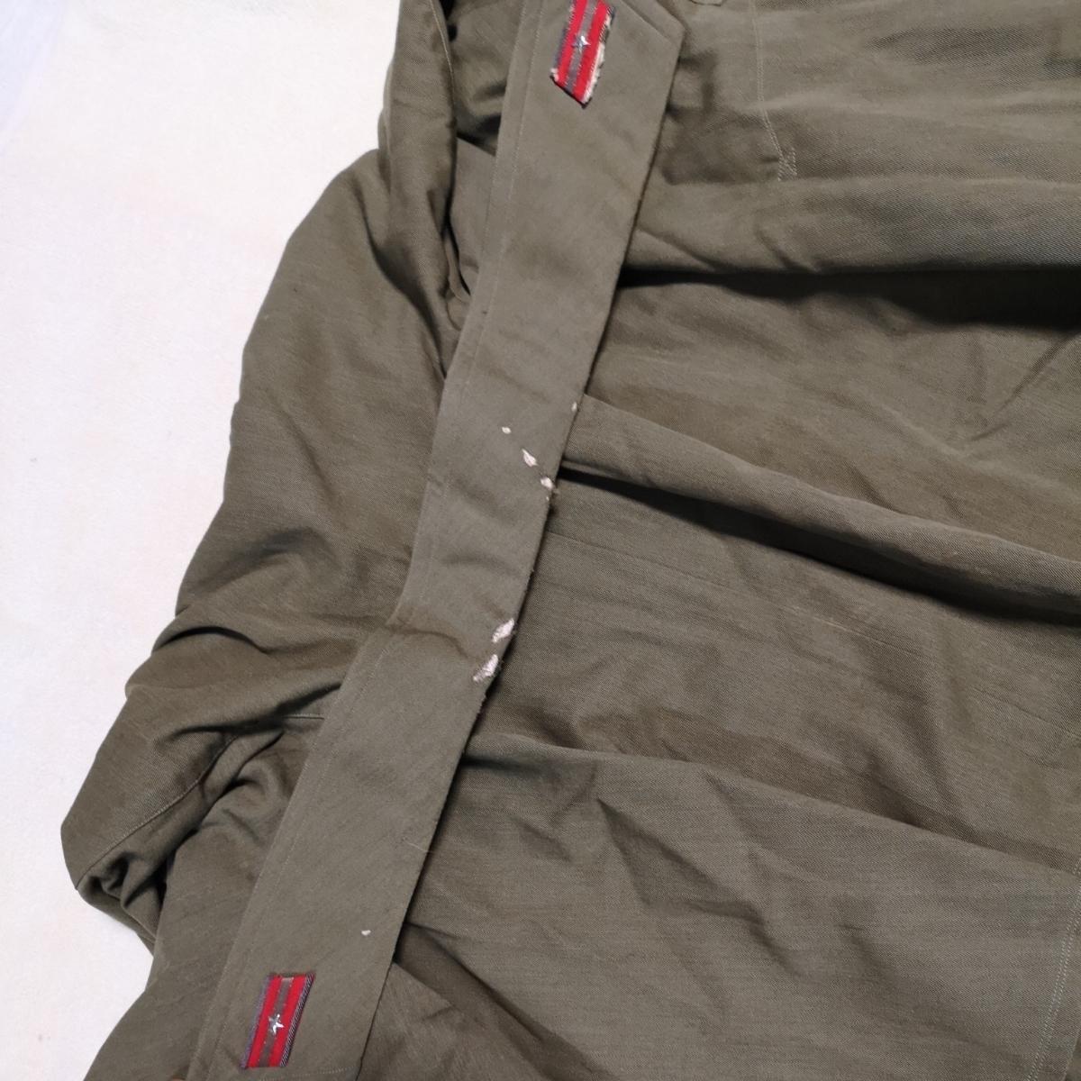 日本軍 将校マント 少尉 外套 襟章付き 戦前 洋品店仕立 軍服_画像8