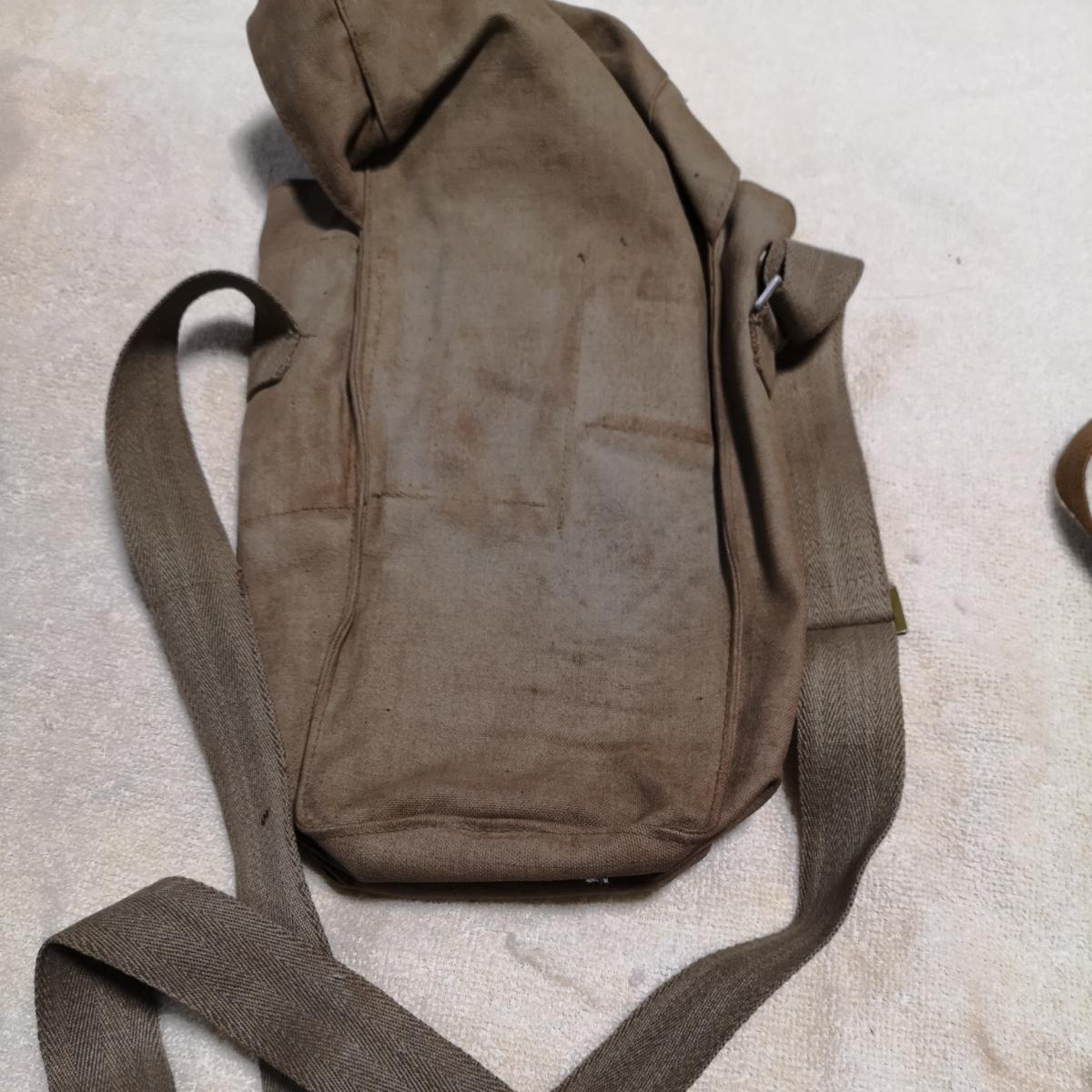 戦前 日本軍 防毒マスク ガスマスク 防毒 ケース 袋 3個 昭和化工 _画像8