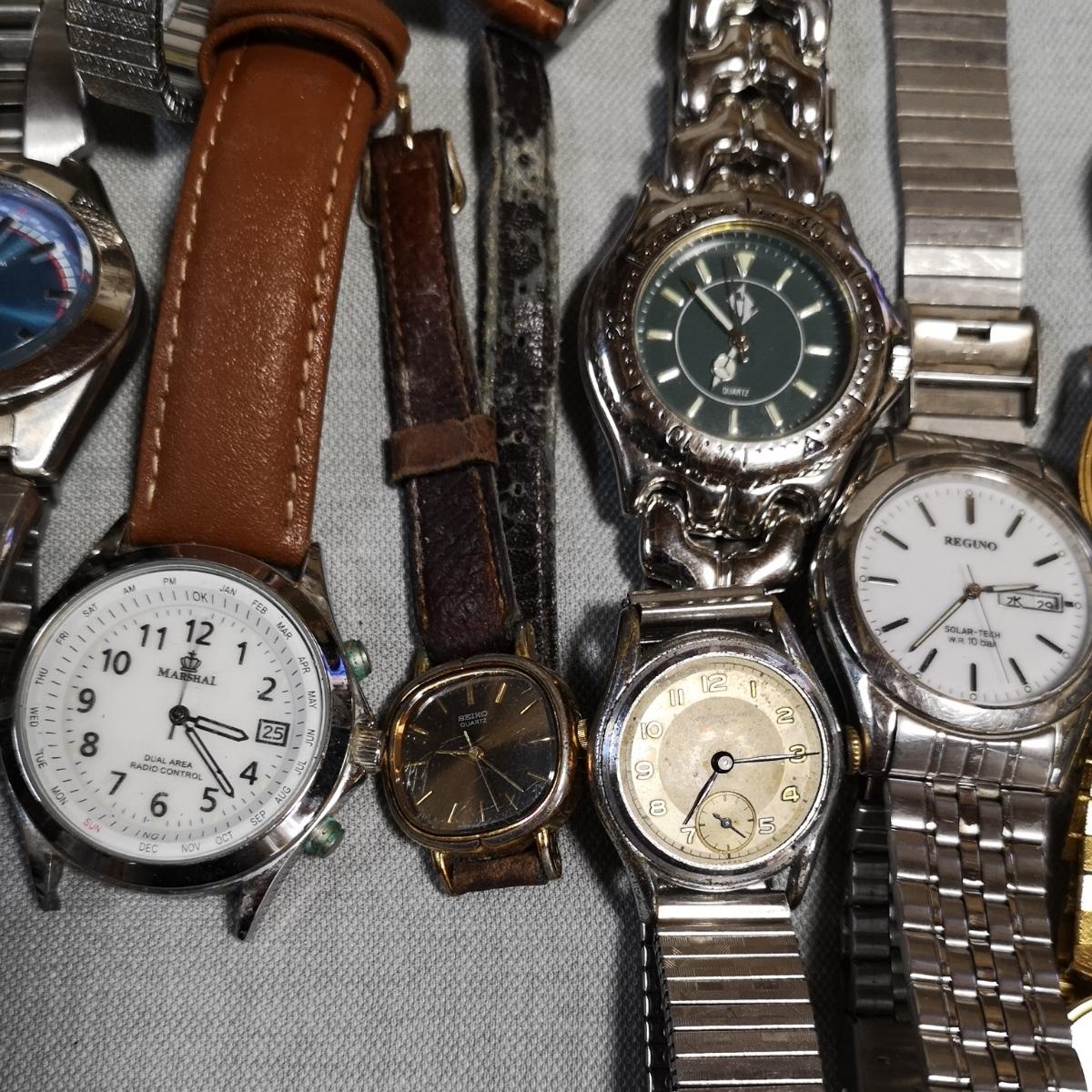腕時計 大量 50個 SEIKO CITIZEN カシオ クォーツ 手巻 懐中時計 銀時計 ジャンク_画像3