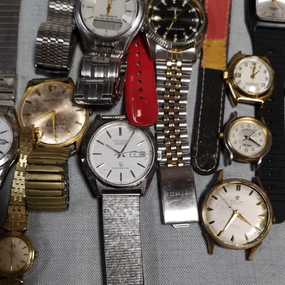 腕時計 大量 50個 SEIKO CITIZEN カシオ クォーツ 手巻 懐中時計 銀時計 ジャンク_画像4