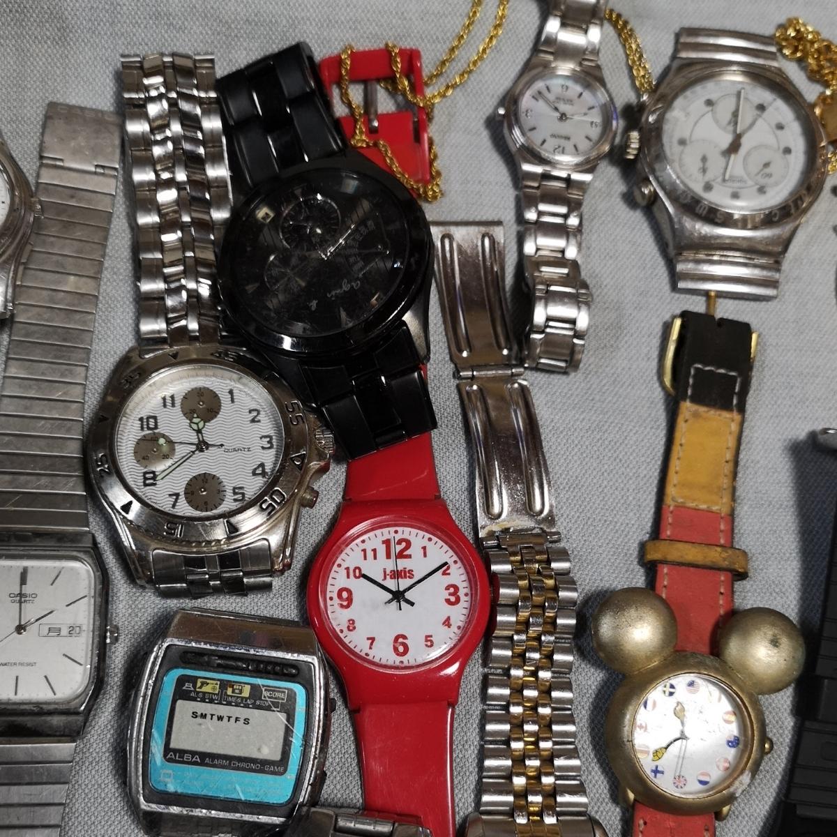 腕時計 大量 50個 SEIKO CITIZEN カシオ クォーツ 手巻 懐中時計 銀時計 ジャンク_画像7