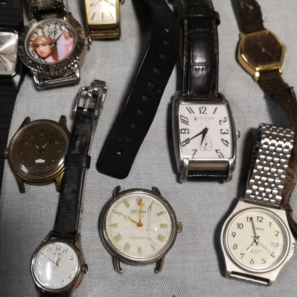 腕時計 大量 50個 SEIKO CITIZEN カシオ クォーツ 手巻 懐中時計 銀時計 ジャンク_画像5