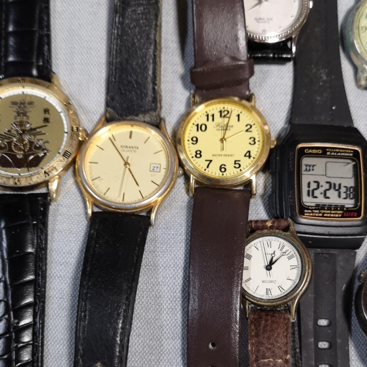 腕時計 大量 50個 SEIKO CITIZEN カシオ クォーツ 手巻 懐中時計 銀時計 ジャンク_画像2