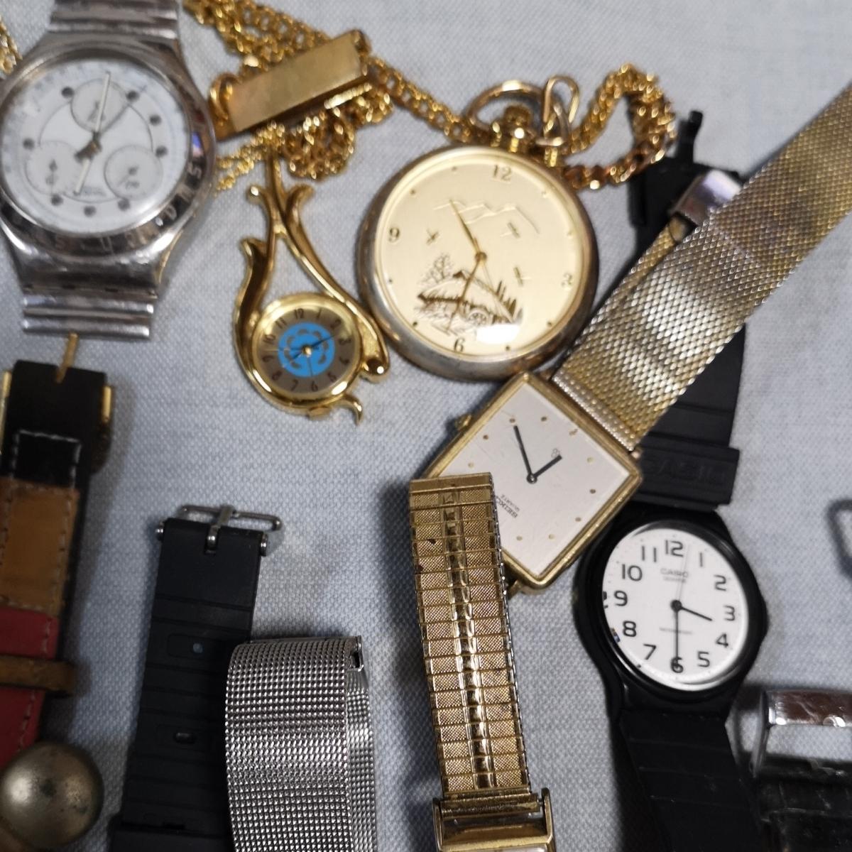 腕時計 大量 50個 SEIKO CITIZEN カシオ クォーツ 手巻 懐中時計 銀時計 ジャンク_画像6