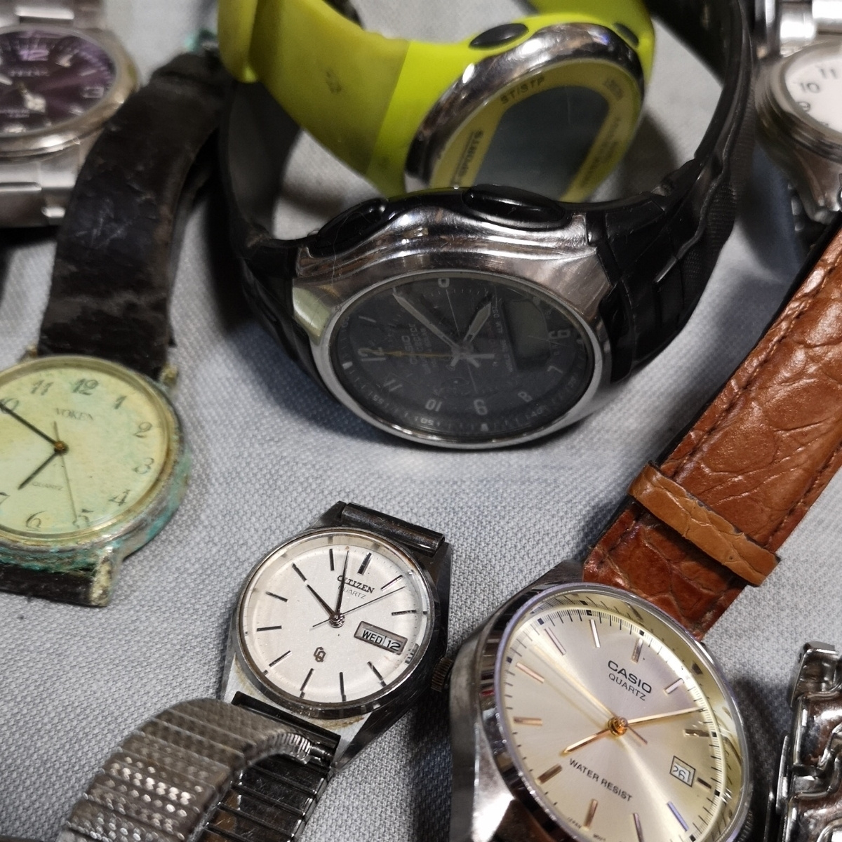 腕時計 大量 50個 SEIKO CITIZEN カシオ クォーツ 手巻 懐中時計 銀時計 ジャンク_画像8