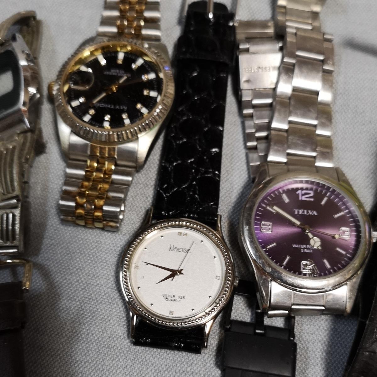 腕時計 大量 50個 SEIKO CITIZEN カシオ クォーツ 手巻 懐中時計 銀時計 ジャンク_画像9