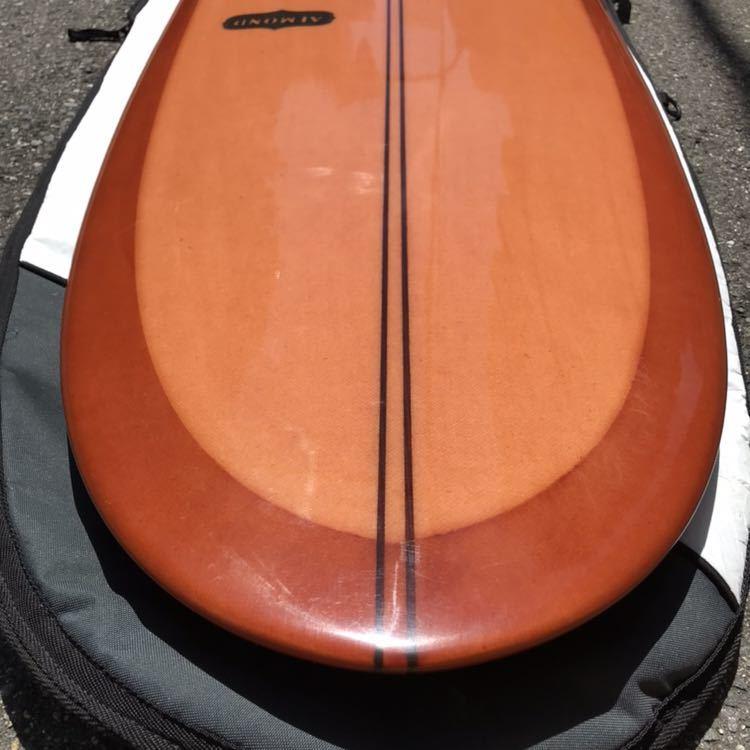 アーモンドサーフボード almond surfboards JOY ファンボード 7'7 ロングボード シングルフィン_画像9