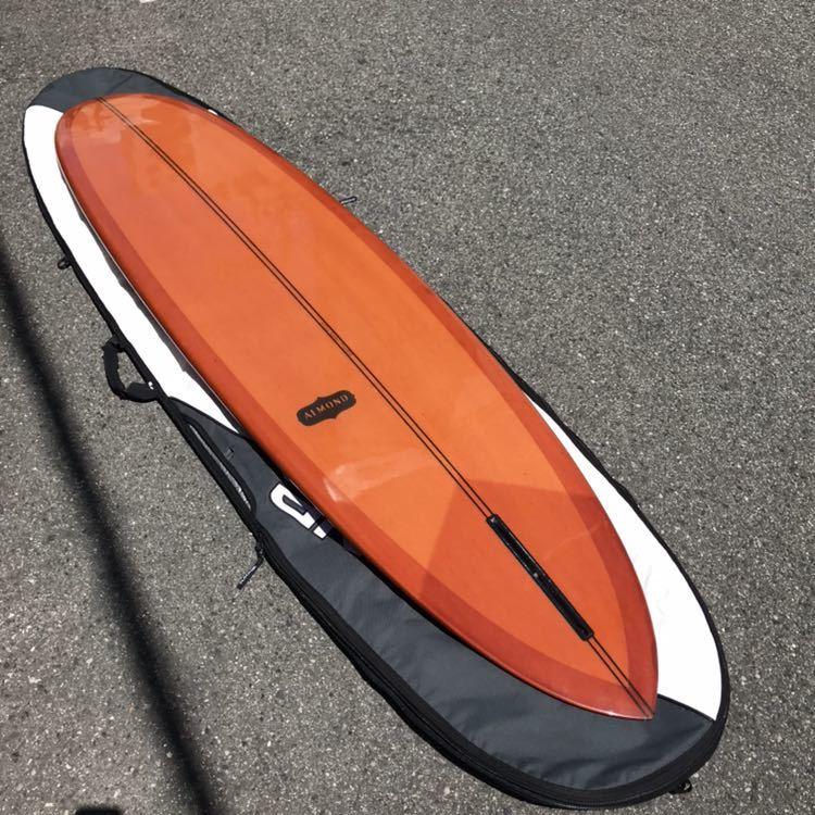 アーモンドサーフボード almond surfboards JOY ファンボード 7'7 ロングボード シングルフィン_画像2