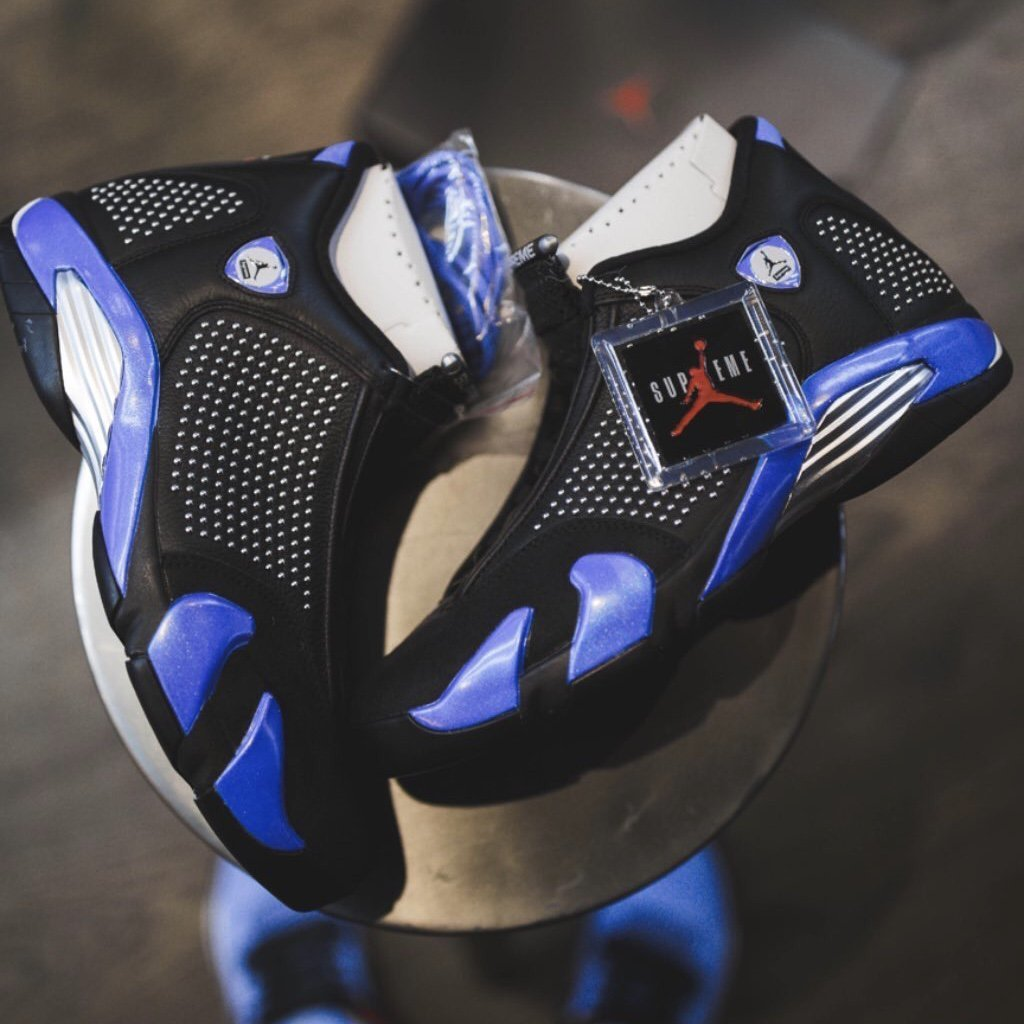 【国内新品】【27.5cm】 Supreme Nike Air Jordan XIV (black) US 9 1/2 (27.5cm) シュプリーム ジョーダン ナイキ_画像6