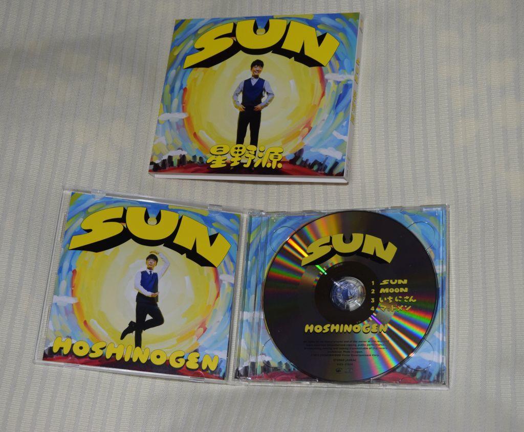 星野源 SUN(初回限定盤) シングル, CD+DVD, 限定版  中古_画像3