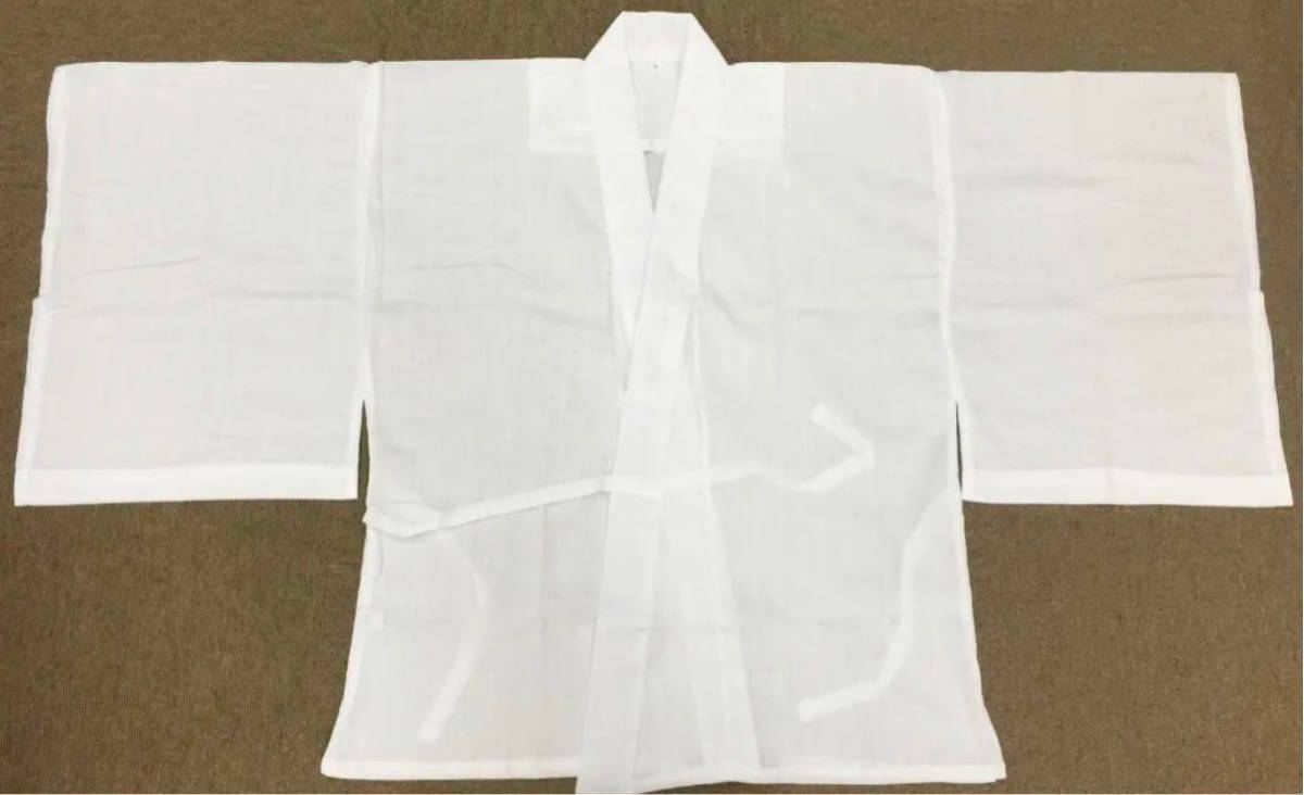 男性用夏用半襦袢 絽半衿付 洗える 別掛衿付仕立 高級クレープ素材 Lサイズ_画像2