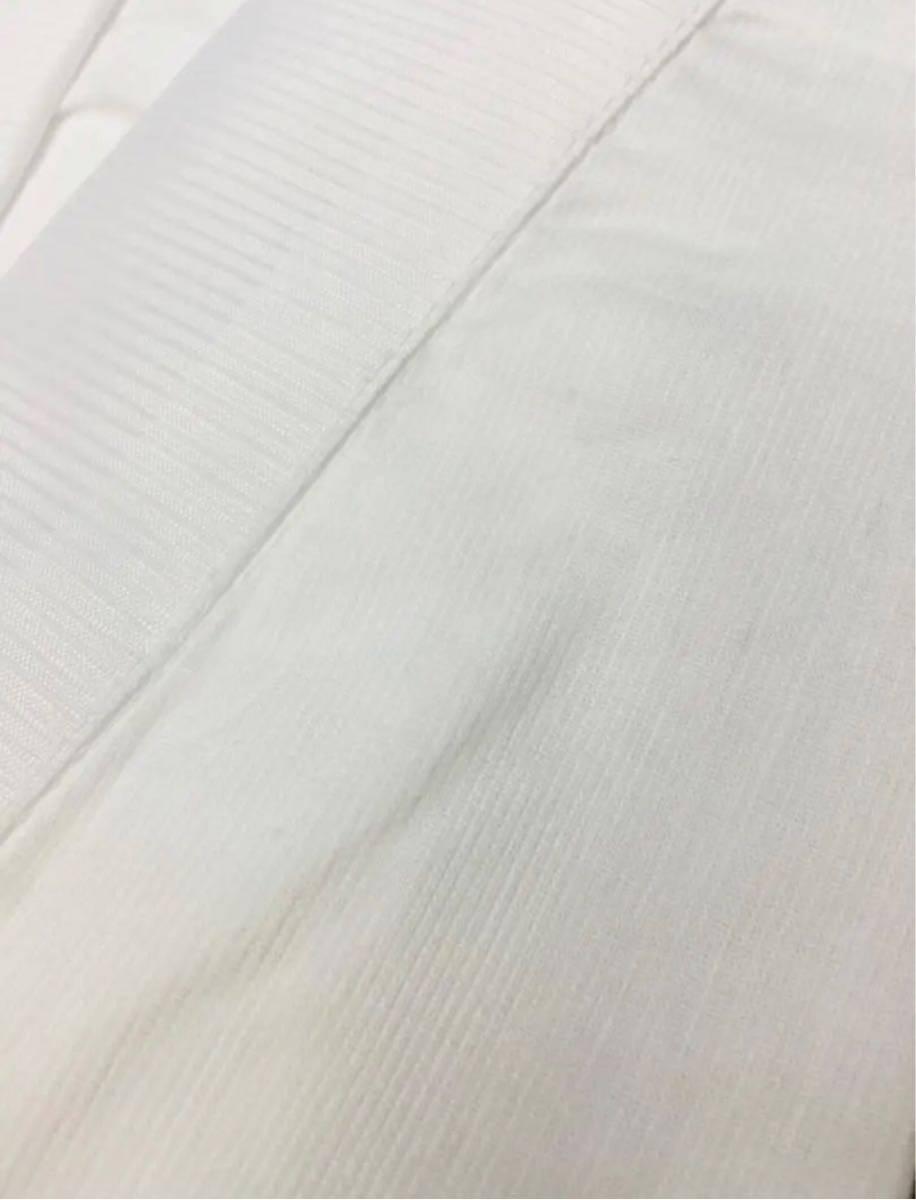 男性用夏用半襦袢 絽半衿付 洗える 別掛衿付仕立 高級クレープ素材 Lサイズ_画像5