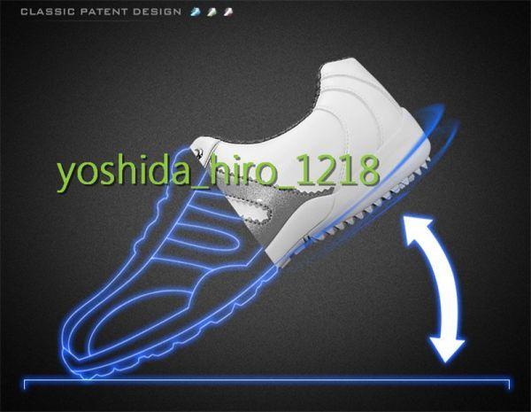 新品 ゴルフシューズ 極細繊維合成革 メンズ 防水 通気性良い スパイクレス 丈夫 メンズシューズ サイズ選択可 HW-58_画像6